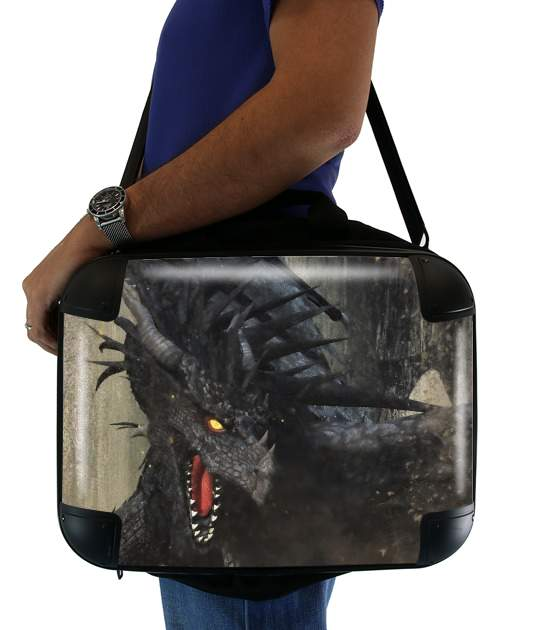 "Black Dragon for Laptop briefcase 15"" / Notebook / Tablet"