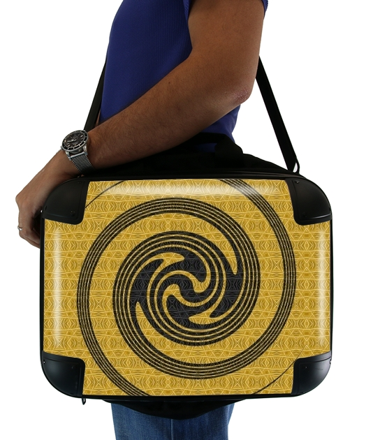 "BLACK SPIRAL for Laptop briefcase 15"" / Notebook / Tablet"