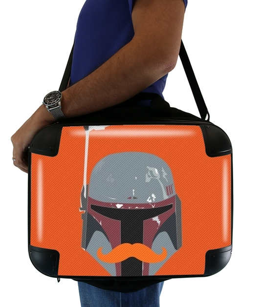 "Boba Stache for Laptop briefcase 15"" / Notebook / Tablet"