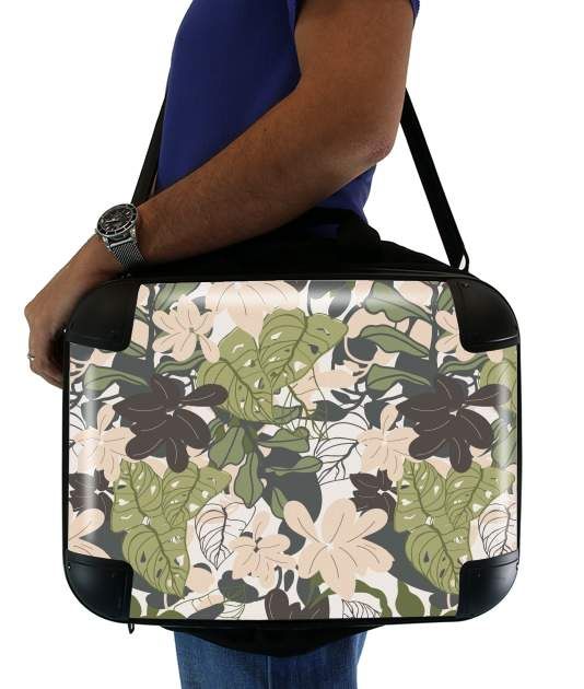 "BOHEMIAN TROPICAL FOLIAGE for Laptop briefcase 15"" / Notebook / Tablet"