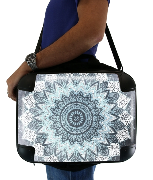 "Bohochic Mandala in Blue for Laptop briefcase 15"" / Notebook / Tablet"