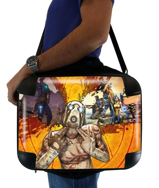 "Borderlands Fan Art for Laptop briefcase 15"" / Notebook / Tablet"