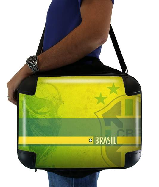 "Brazil Selecao Home for Laptop briefcase 15"" / Notebook / Tablet"