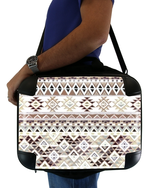 "BROWN TRIBAL NATIVE for Laptop briefcase 15"" / Notebook / Tablet"
