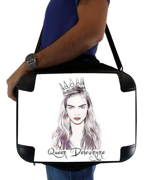 "Cara Delevingne Queen Art for Laptop briefcase 15"" / Notebook / Tablet"