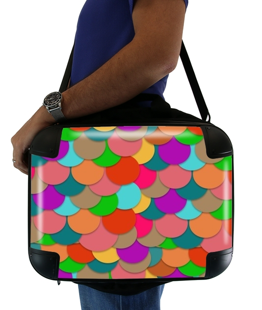 "Circles Multicolor for Laptop briefcase 15"" / Notebook / Tablet"