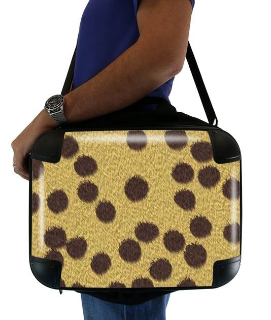 "Cheetah Fur for Laptop briefcase 15"" / Notebook / Tablet"