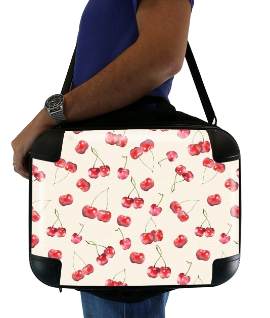 "Cherry Pattern for Laptop briefcase 15"" / Notebook / Tablet"
