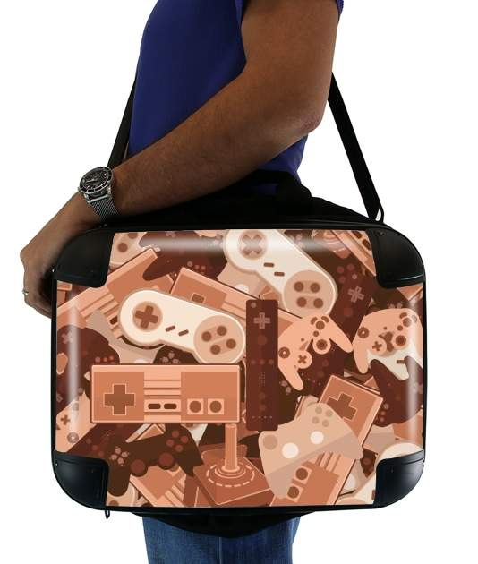 "Chocolate Gamers for Laptop briefcase 15"" / Notebook / Tablet"