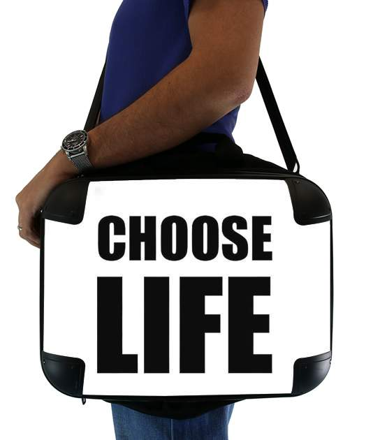 "Choose Life for Laptop briefcase 15"" / Notebook / Tablet"