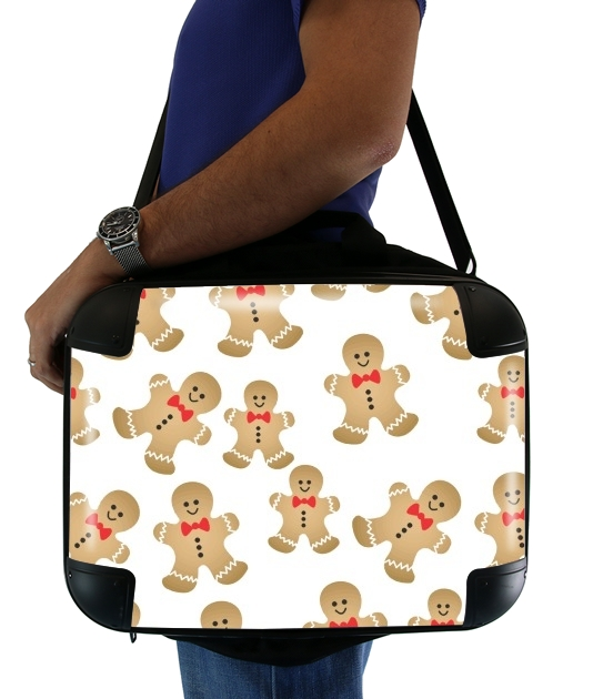 "Christmas snowman gingerbread for Laptop briefcase 15"" / Notebook / Tablet"