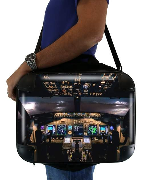 "Cockpit Aircraft for Laptop briefcase 15"" / Notebook / Tablet"