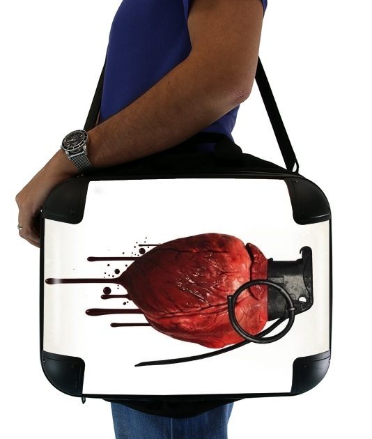 "Heart Grenade for Laptop briefcase 15"" / Notebook / Tablet"