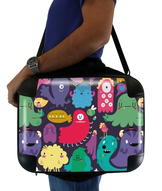 "Colorful Creatures for Laptop briefcase 15"" / Notebook / Tablet"