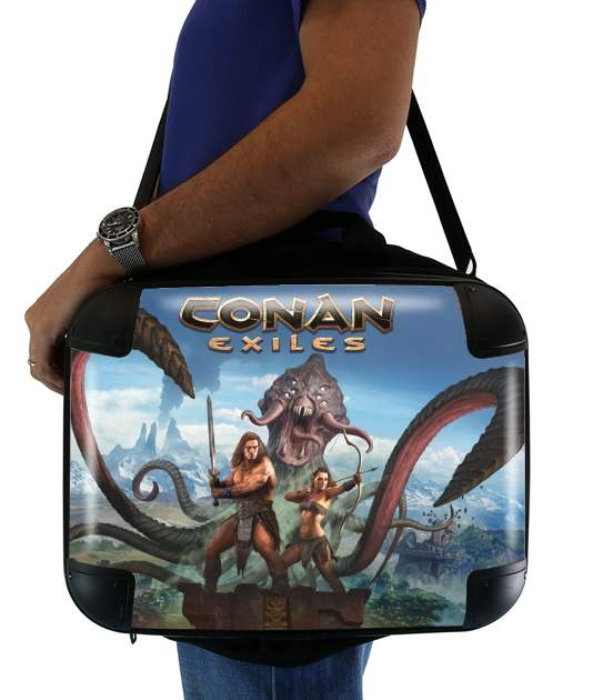 "Conan Exiles for Laptop briefcase 15"" / Notebook / Tablet"