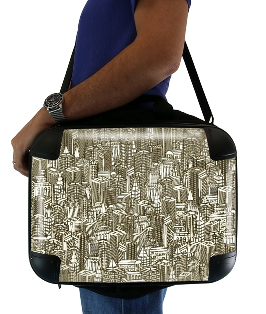"Concrete Visions for Laptop briefcase 15"" / Notebook / Tablet"