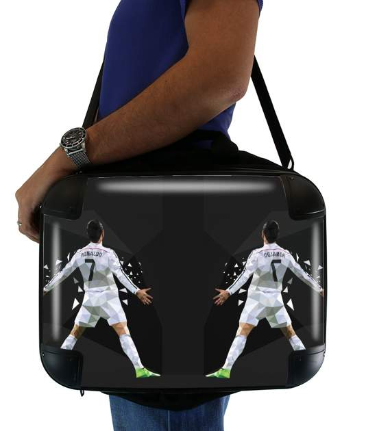 "Cristiano Ronaldo Celebration Piouuu GOAL Abstract ART for Laptop briefcase 15"" / Notebook / Tablet"