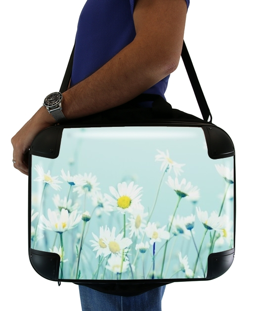 "Dancing Daisies for Laptop briefcase 15"" / Notebook / Tablet"