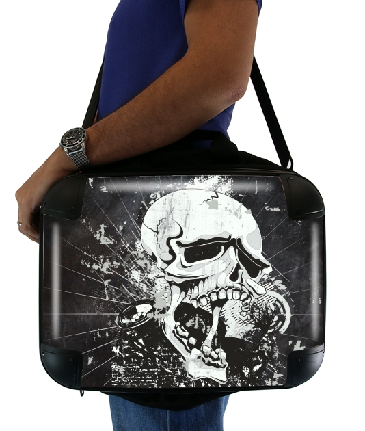 "Dark Gothic Skull for Laptop briefcase 15"" / Notebook / Tablet"