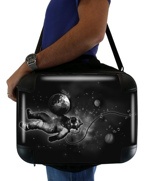 "Deep Sea Space Diver for Laptop briefcase 15"" / Notebook / Tablet"