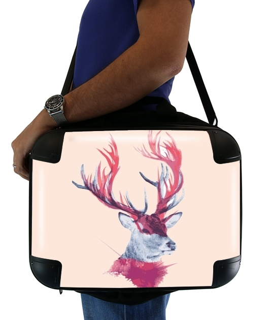 "Deer paint for Laptop briefcase 15"" / Notebook / Tablet"