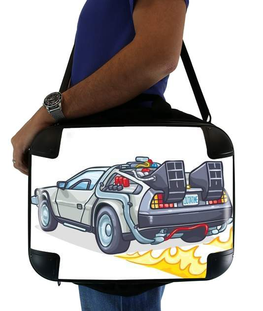 "Delorean retour vers le futur for Laptop briefcase 15"" / Notebook / Tablet"