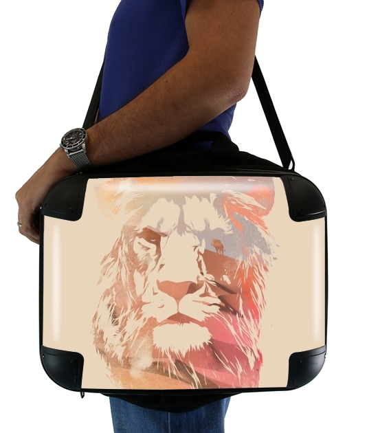 "Desert Lion for Laptop briefcase 15"" / Notebook / Tablet"