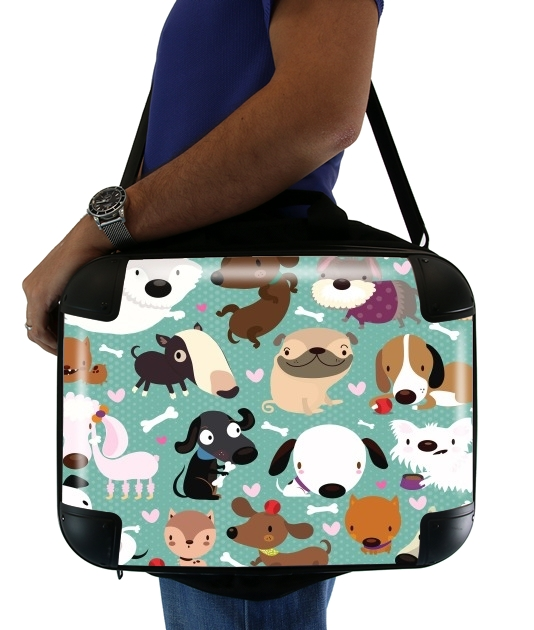 "Dogs for Laptop briefcase 15"" / Notebook / Tablet"