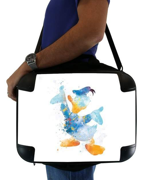 "Donald Duck Watercolor Art for Laptop briefcase 15"" / Notebook / Tablet"