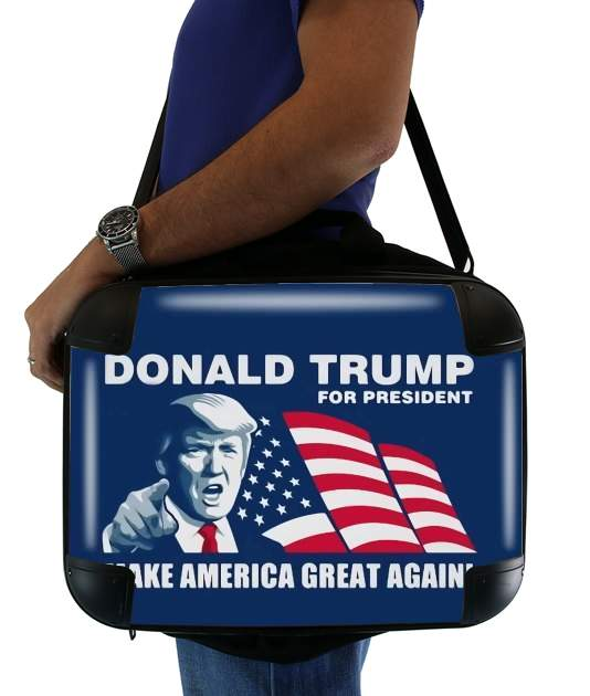 "Donald Trump Make America Great Again for Laptop briefcase 15"" / Notebook / Tablet"