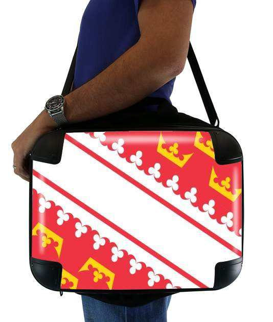 "Drapeau alsacien Alsace Lorraine for Laptop briefcase 15"" / Notebook / Tablet"