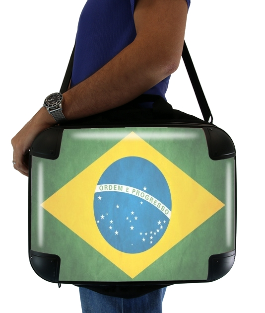 "Flag Brasil for Laptop briefcase 15"" / Notebook / Tablet"
