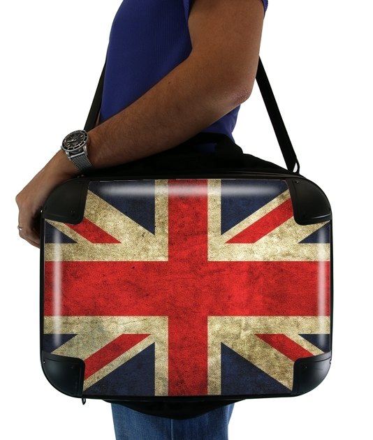 "Old-looking British flag for Laptop briefcase 15"" / Notebook / Tablet"