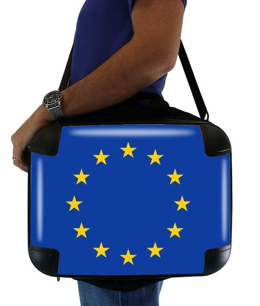 "Europeen Flag for Laptop briefcase 15"" / Notebook / Tablet"