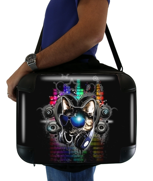 "Drop The Bass for Laptop briefcase 15"" / Notebook / Tablet"