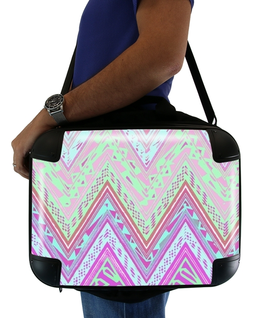 "ETHNIC CHEVRON for Laptop briefcase 15"" / Notebook / Tablet"