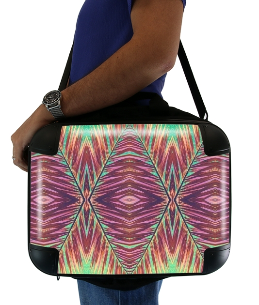 "Ethnic palm for Laptop briefcase 15"" / Notebook / Tablet"