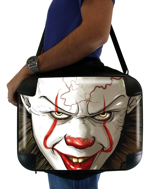 "Evil Clown  for Laptop briefcase 15"" / Notebook / Tablet"