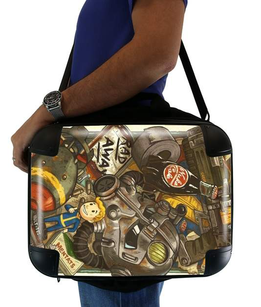 "Fallout Painting Nuka Coca for Laptop briefcase 15"" / Notebook / Tablet"