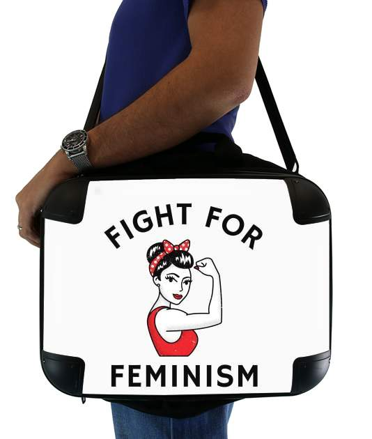 "Fight for feminism for Laptop briefcase 15"" / Notebook / Tablet"