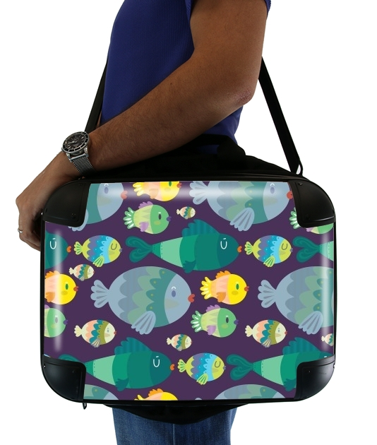 "Fish pattern for Laptop briefcase 15"" / Notebook / Tablet"