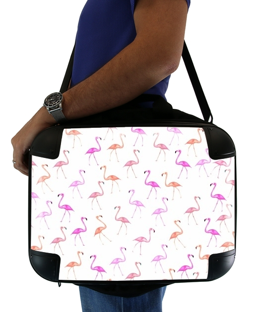 "FLAMINGO BINGO for Laptop briefcase 15"" / Notebook / Tablet"
