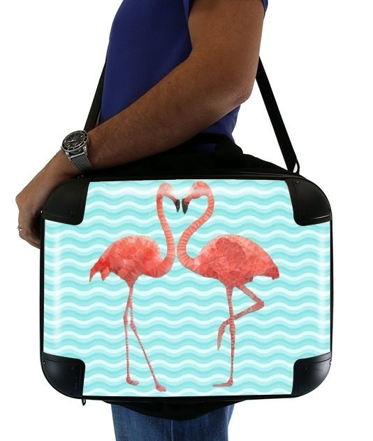 "flamingo love for Laptop briefcase 15"" / Notebook / Tablet"