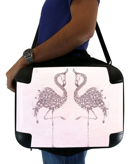 "Flamingo for Laptop briefcase 15"" / Notebook / Tablet"