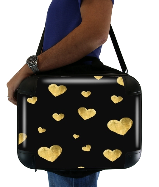 "Floating Hearts for Laptop briefcase 15"" / Notebook / Tablet"