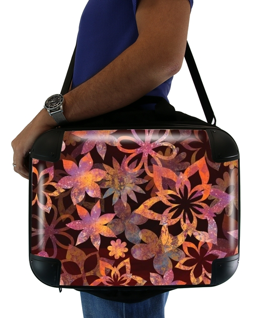 "FLOWER POWER for Laptop briefcase 15"" / Notebook / Tablet"