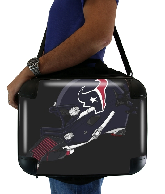 "Football Helmets Houston for Laptop briefcase 15"" / Notebook / Tablet"