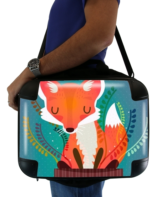 "Fox in the pot for Laptop briefcase 15"" / Notebook / Tablet"