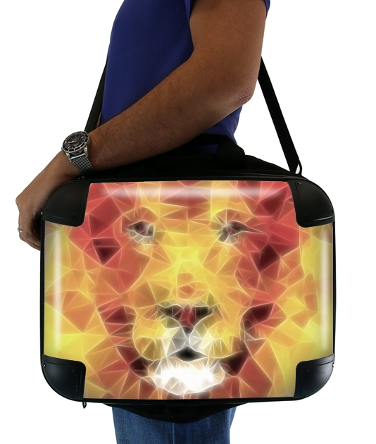 "fractal lion for Laptop briefcase 15"" / Notebook / Tablet"