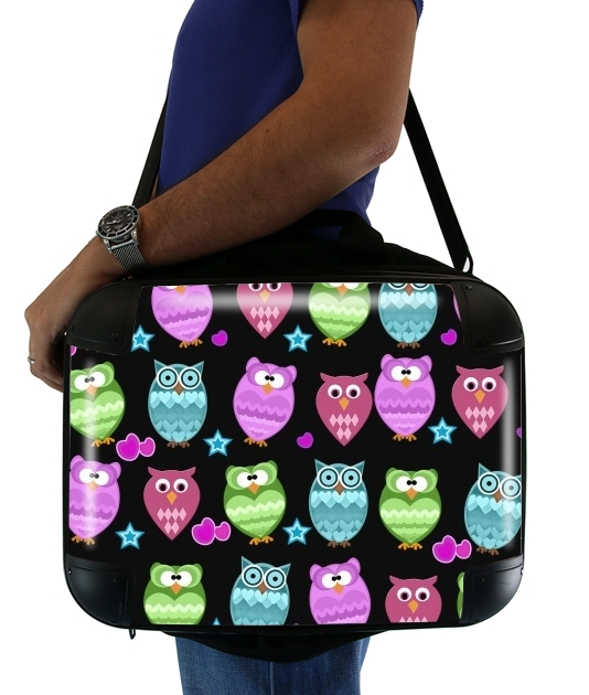 "funky owls for Laptop briefcase 15"" / Notebook / Tablet"